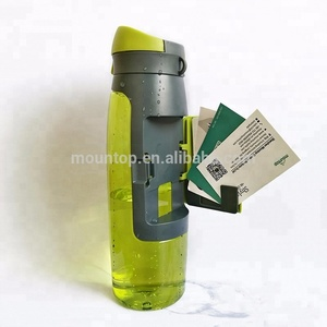 High Quality Custom Logo Plastic 750ml Wallet Shaker Cup Storage Sports Water Bottle
