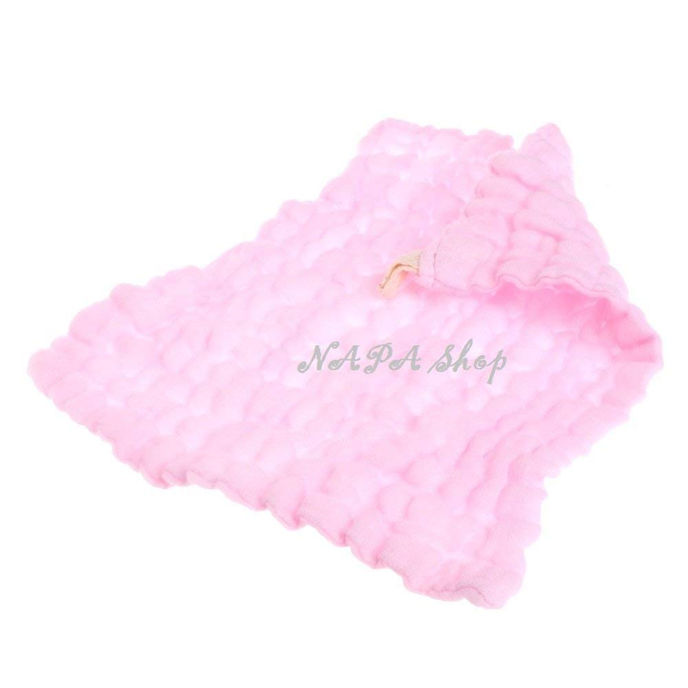 NAPA Shop Pink Soft Cotton Baby Handkerchief Infant KidsTowel Newborn Baby Washcloth Baby Child Feeding Wipe Cloth