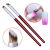 ANGNYA Nail Gradient Pen Colored Glue Slant Red Wooden Handle Nail Brush