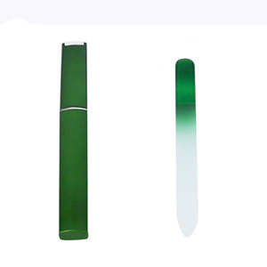 Up to 600 USA Nail shops are selling nail file with logo crystal glass nail file case box durable washable files for hands