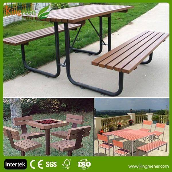 New Design Garden Furniture Patio Furniture Table And Garden Chair From Eco  Wood Plastic Composite Furniture - Buy Wood Plastic Composite ...