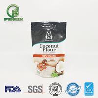 Food Grade Plastic Stand Up Zip Lock Pouch For Coconut Flour Packaging