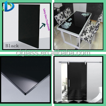 6 12mm Back Painted Tempered Glass Table Top