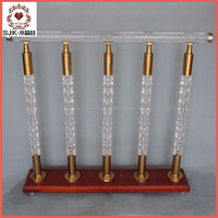 2016 fashion crystal stair railing, decorative pillars, baluster for stair