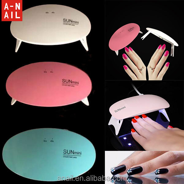 Nail Gel Machine Tools 6W Mini Nail Lamp Nail Dryer White Light LED UV Lamp with USB Cable