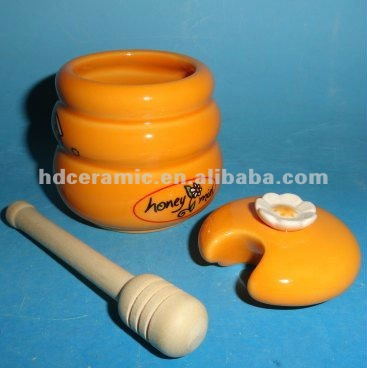 Ceramic honey canister