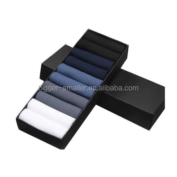 compression special design bamboo charcoal +cotton socks One Piece Fold-Over box