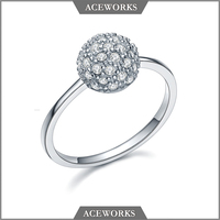 RN2629 Aceworks Popular Trendy Round Diamond 925 Sterling Silver Zircon Stacking Ring From China