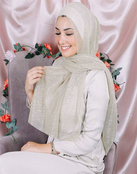 Shimmer fashion polyester scarf breathable soft shawls for muslim women