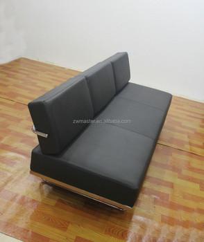 Living Room Furniture Italian Leather Replica Le Corbusier Sofa LC5 Daybed
