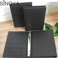 Restaurant western food leather flip menu folder