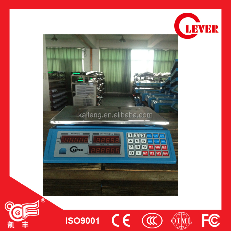 New keyboard Cheap digital weighing 30kg scales ACS-268 from Kaifeng Group