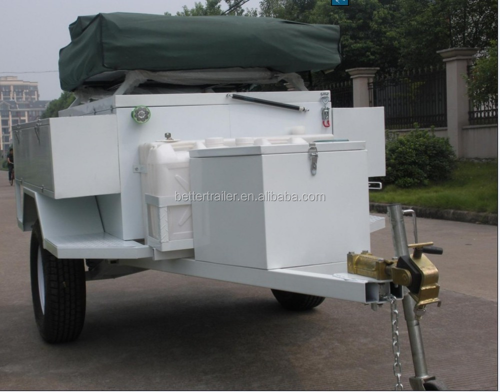 light and big space camping trailer,easy towable small tent trailer