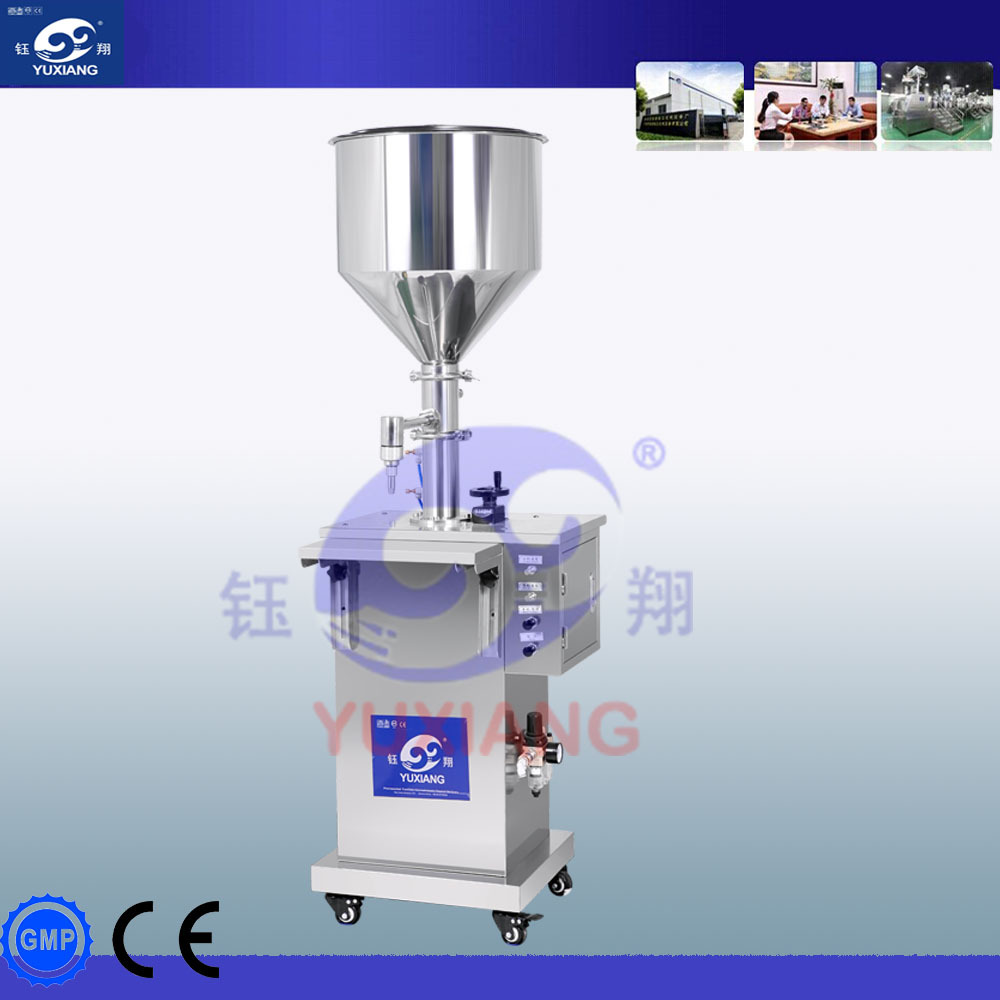 vertical type pneumatic pet bottle filling machine for cream and liquid filling