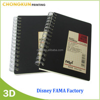 Disney Audit Factory Supply 3D Lenticular pritning spiral a4 cheap notebook