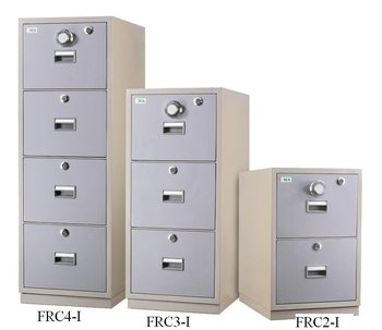3 Drawers Fire Resistant Cabinet Center Locking