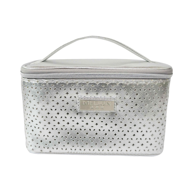 Trendy multifunctional PU toiletry makeup bag with big capacity