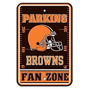 "Cleveland Browns NFL ""Fan Zone"" Parking Sign 12"" x 18"""