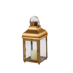 Indoor contemporary copper hurricane lamps lantern glass candle holder