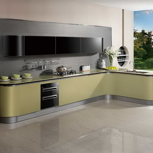 Latest wooden cupboard design modern italian kitchen for Acrylic paint for kitchen cabinets