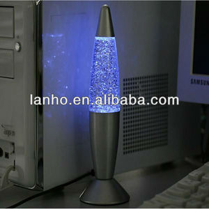 NEW USB Lava Lamp Fashion Multi Color Changing LED Glitter Light
