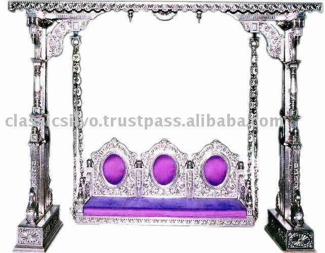 Royal Silver Carved Swing Jhoola Furniture (silver Swing Jhoola ...