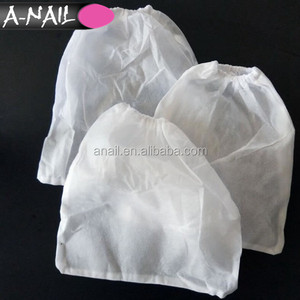 Hot 10 pcs White Non-woven Replacement Nail Dust Collector Bags for Nail Art Dust Suction Extractor