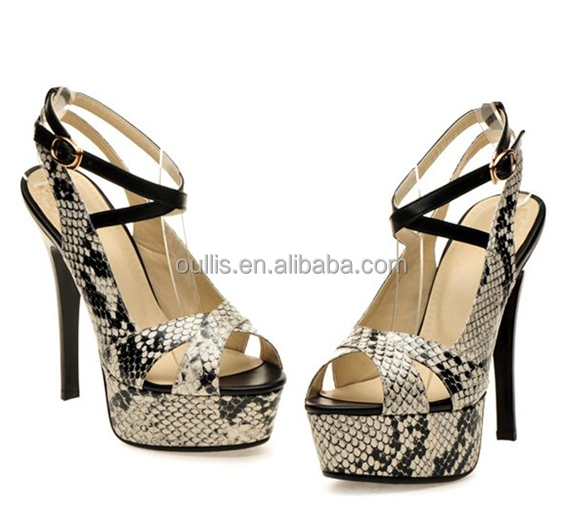 Wholesale animal-print women sandals newest design beautiful shoes ...