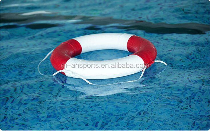 PU coated life ring swimming pool life buoy with rope