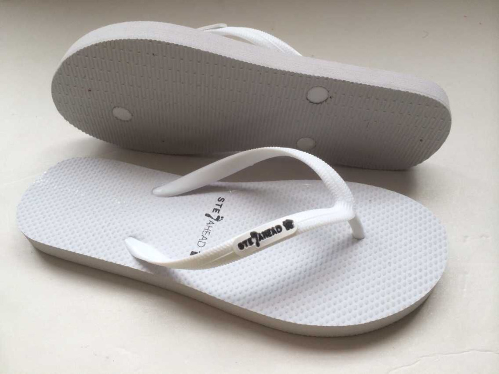 customized white rubber flip flops wedding for unisex