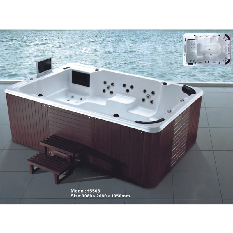 CBMMART Outdoor Acrylic Bathtub Hot Tub Large Spa for 8 Person, View ...