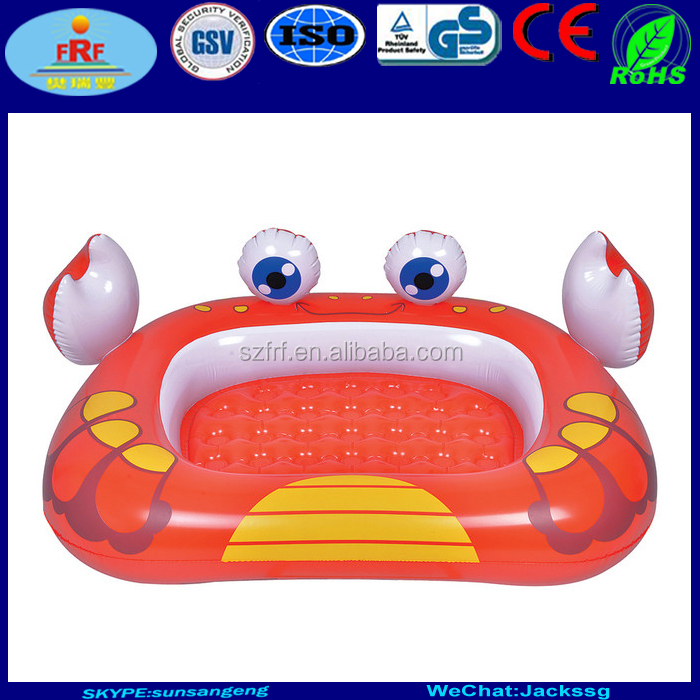 Inflatable Crab Wading Pool, Inflatable Crab Toddler Swimming Pool