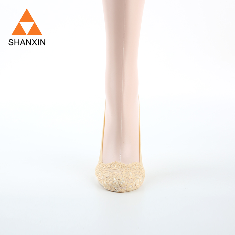 Factory Direct OEM Custom Lace Socks For Women,Lady Invisble Ankle Socks With Lace