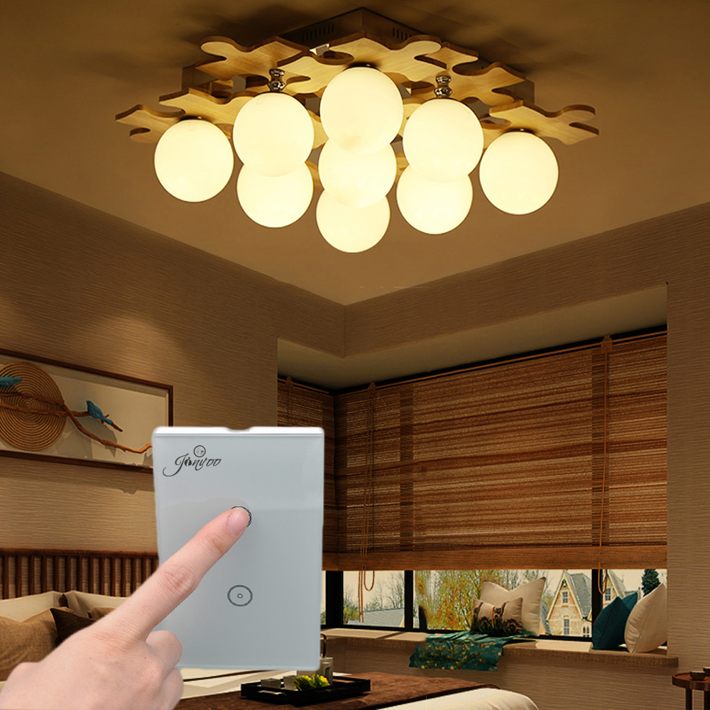 Jinvoo Wifi 3 Gang 1 Way Smart Home Wifi Light Wall Switch