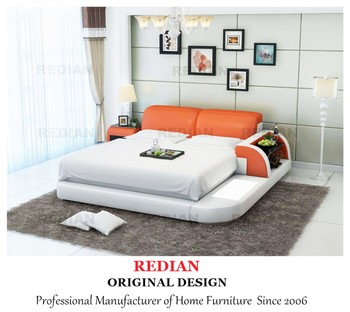 Wholesale modern bed with bookstand kids bedroom furniture led beds