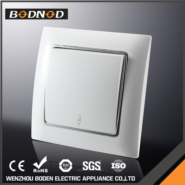 China manufacturer 1 Gang 2 way european wall electric power on off switch