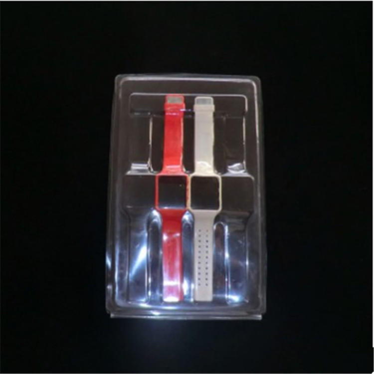 Custom blister packaging with sliding card for electronic watch