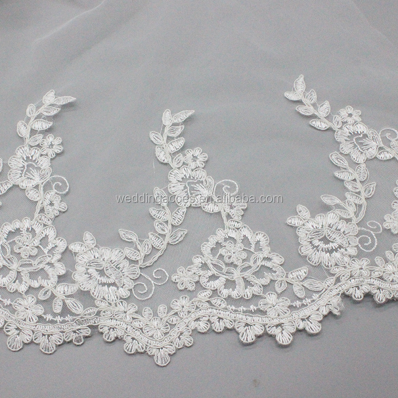 D1308Bridal wedding dress accessories shawl net lace flower diamond shawl