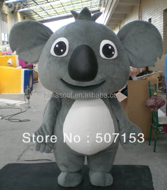 New design!!! funny dress koala bear mascot costume for adult size,cartoon character plush animal mascot costume
