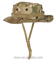 POLYESTER Boonie Rip Stop Bush Hat with Chin Strap