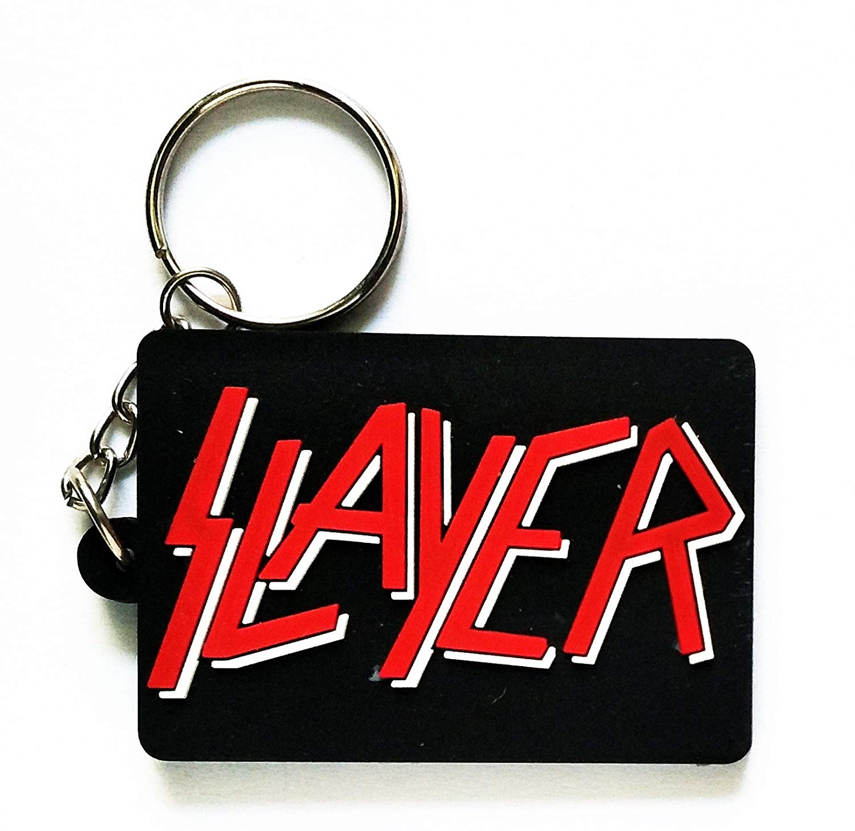 36a775a86bf Black Slayer Music Rubber Keychain Key ring Music Band Pop Rock Punk Heavy  Metal Ideal Logo
