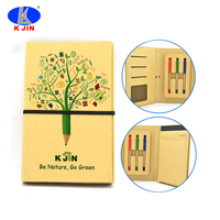Eco executive customized stationery set with ball pen and notebook