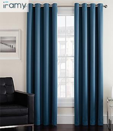 Home decor polyester window curtains thermal insulation blackout coating curtains and drapes