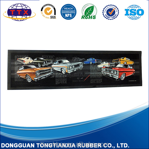 promotional customized modeling silicone bar mat eco-friend Bar runner