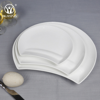 Dishwasher Safe Porcelain Half Moon Unique Shaped Dishes For Dinner ...