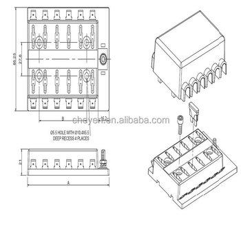 automotive parts , atc or ato fuses or plug-in fuse box for auto fuse