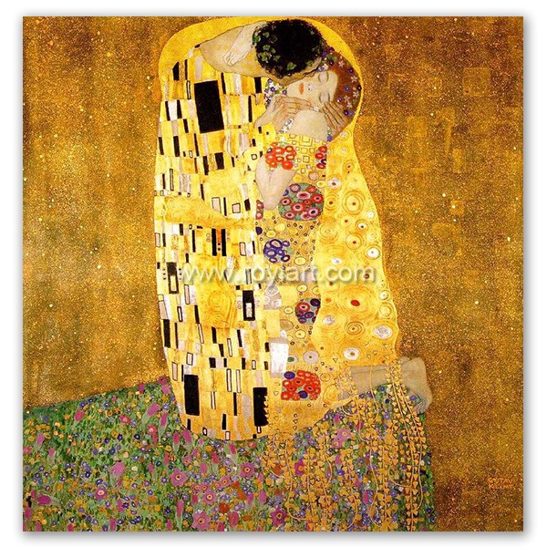 High Quality Gustav Klimt reproduction oil painting canvas art of the kiss