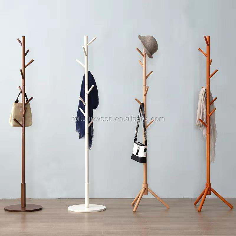 beech wood clothes rack stand cheap supply