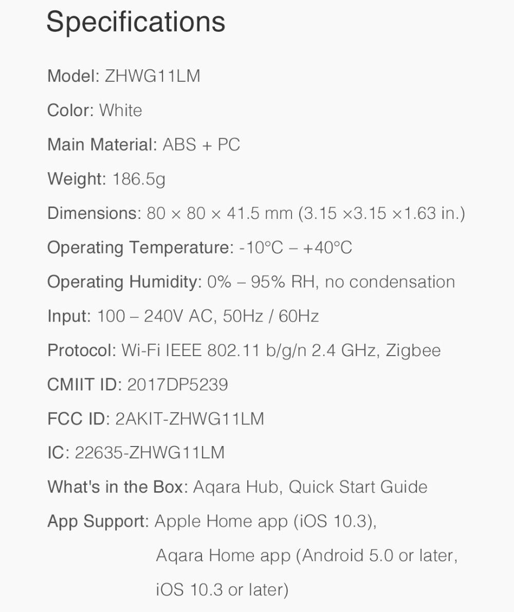 Original Xiaomi Aqara Gateway Hub Wireless Zigbee WiFi