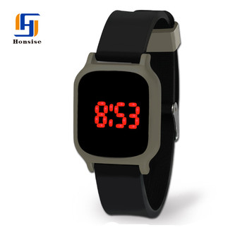 Wholesale Alibaba Cheap Silicone Touch Screen Red Light Led Watch Mens Watches